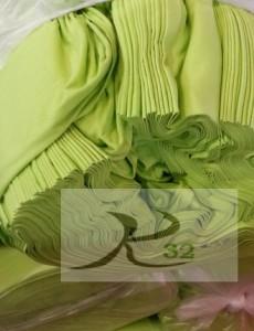 ผ้ายืดสีเขียวมะนาว
