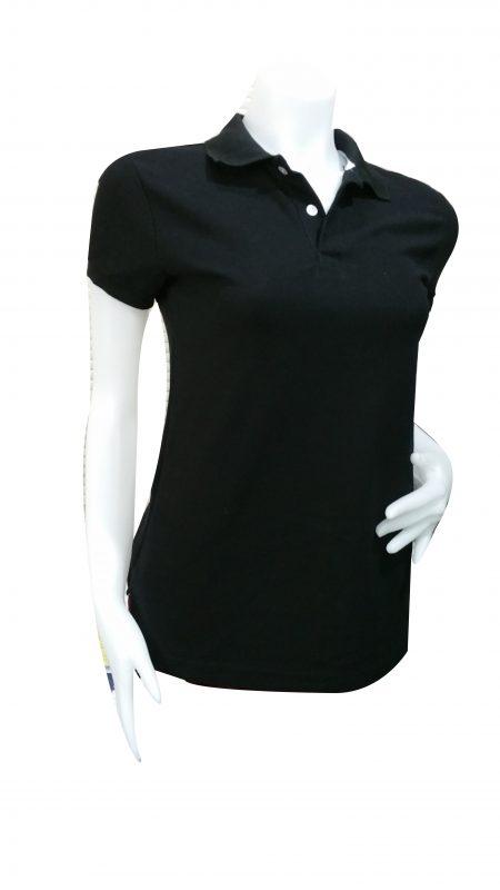 เสื้อโปโลสีดำผู้หญิง1